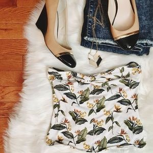 Forever 21 Floral Tube Top Size S